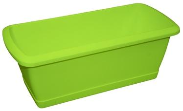Prosperplast Balcony Flower Box With Plate Green 40cm