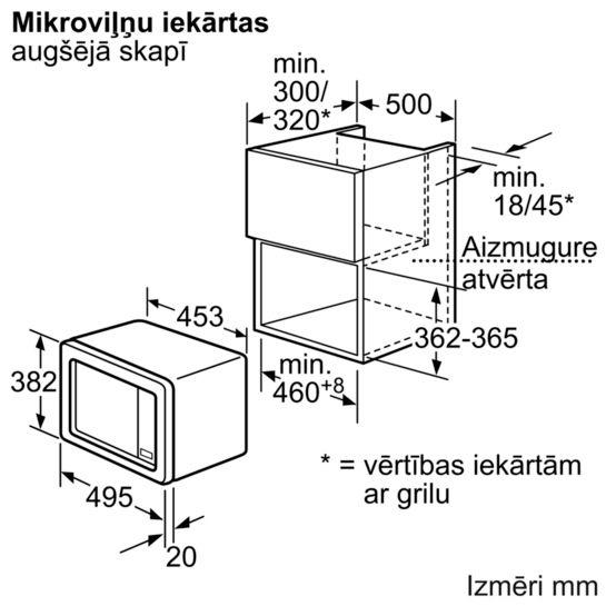 Integreeritav mikrolaineahi Siemens iQ100 HF15M251