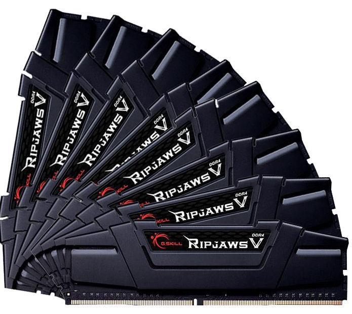 G.SKILL RipJawsV Series Black 64GB 3000MHz CL14 DDR4 KIT OF 8 F4-3000C14Q2-64GVK