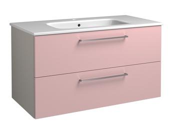 Apatinė vonios spintelė joy 91cm rožinė