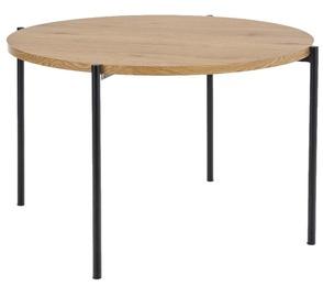 Pusdienu galds Halmar Morgan, melna/ozola, 1200 mm x 1200 mm x 760 mm