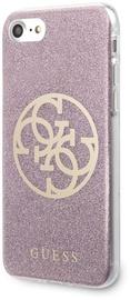 Guess Glitter 4G Logo Back Case For Apple iPhone 7/8/SE 2020 Pink
