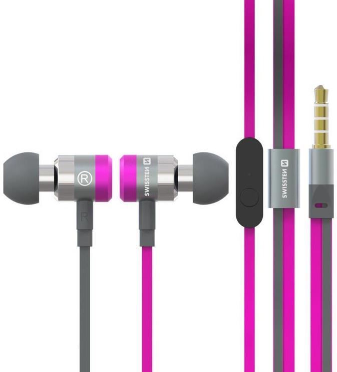 Ausinės Swissten SuperBass YS900 Pink