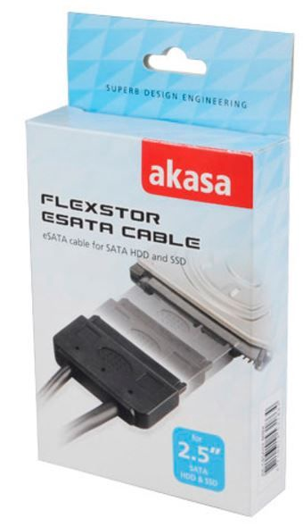 Akasa eSATA Cable for SATA HDD / SSD Black