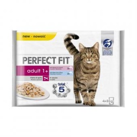 Perfect Fit Cat Food With Salmon/White Fish 4x85g