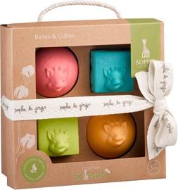 Klucīši Vulli Sophie La Girafe So Pure 2 Balls And 2 Cubes Set