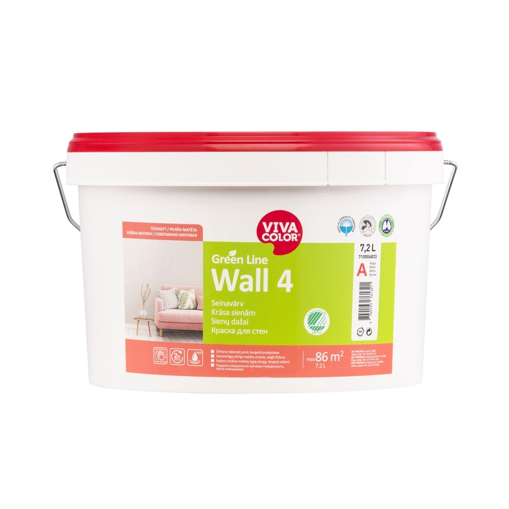 KRASA GREEN LINE WALL 4 A 7,2L (VIVACOLOR)