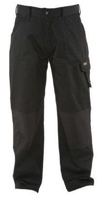 DeWALT DWC20-001 Mens Polycotton Work Pant with Knee Pad Pockets 36 33