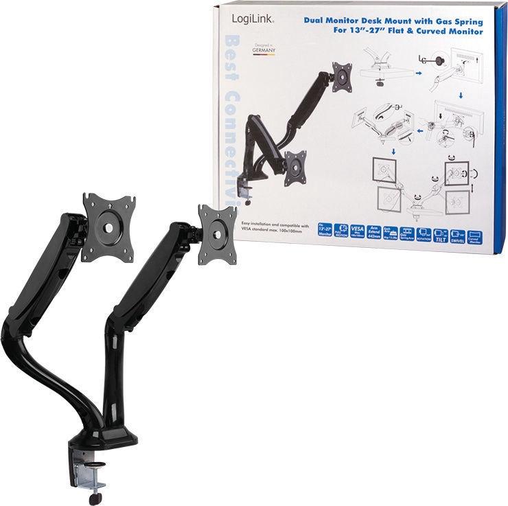 LogiLink Dual Monitor Desk Mount Black BP0041