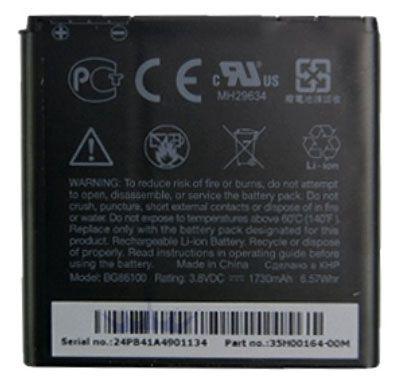 Аккумулятор для телефона HTC, Li-ion, 1730 мАч