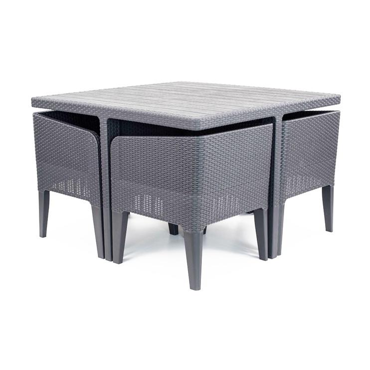 Sodo baldų komplektas Keter Columbia 5 Gray