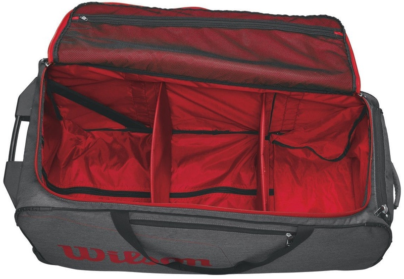 Wilson Wheeled Coaches Duffel Grey/Red