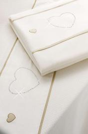 Erbesi Cuori Blanket Cream 110x130cm 49350