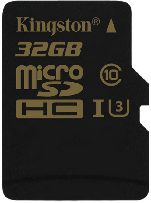 Kingston Gold 32GB microSDHC UHS-I U3 + Adapter