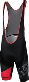 Kross Rubble Bib Shorts Black Red M