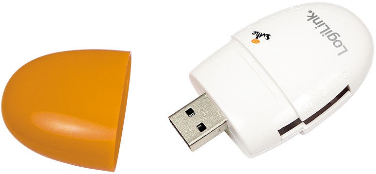 LogiLink CR0029 USB 2.0 Mini Card Reader Stick Orange