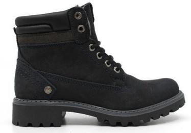 Wrangler Creek Fur Womens Leather Winter Boots Navy 39