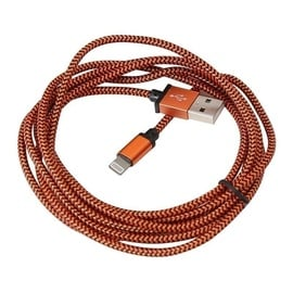 Platinet Braided Cable USB To Lightning 2m Orange