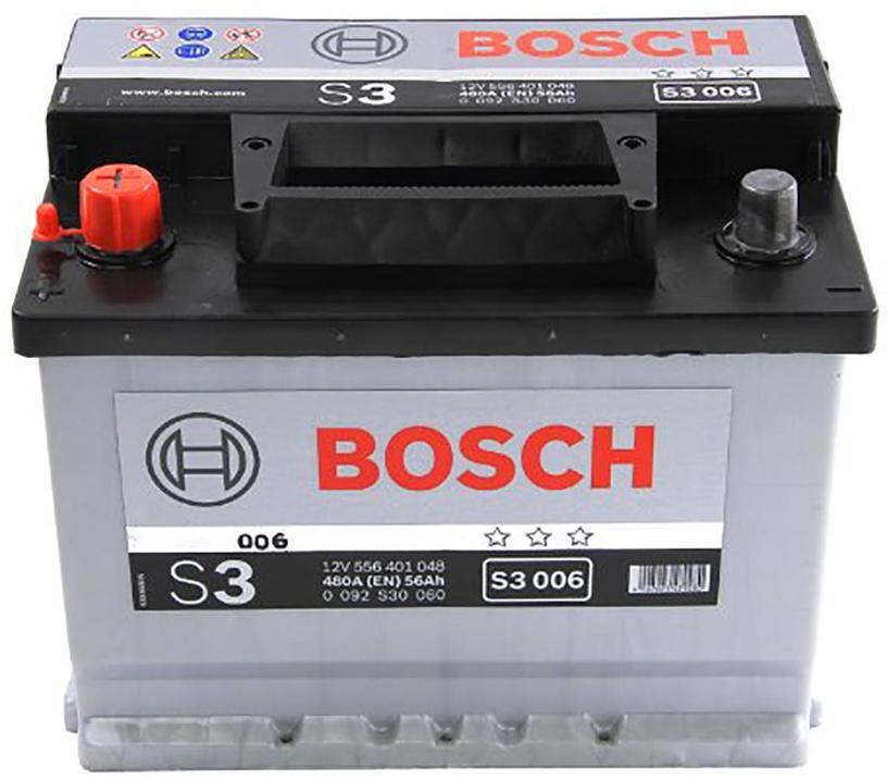 Аккумулятор Bosch S3 006, 12 В, 56 Ач, 480 а