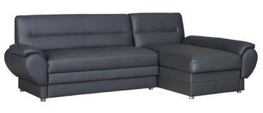 Bodzio Livonia Right Corner Folding Sofa Eco Leather Dark Gray