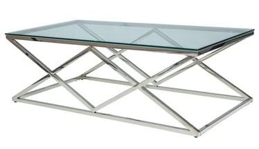 Kafijas galdiņš Signal Meble Zegna Silver, 1200x600x400 mm