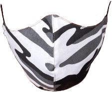 TakeMe Profiled 1-Layer Reusable Face Mask Gray Camo