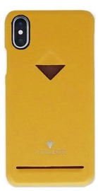 Vix&Fox Card Slot Back Shell For Apple iPhone XR Yellow