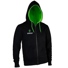 GamersWear Sprout Hoodie w/ Zip Black/Green XXL