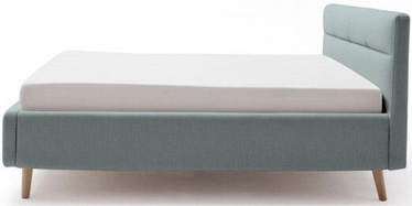 Gulta Meise Möbel Lotte Ice Blue, 200x180 cm, ar režģi