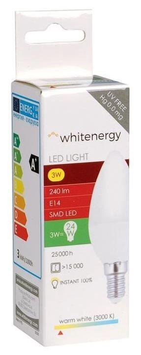 Whitenergy LED Bulb C37 3W Warm White