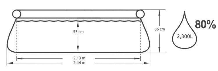 Bestway Fast Set 244cm