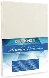Palags DecoKing Amelia Ecru, 160x200 cm, ar gumiju