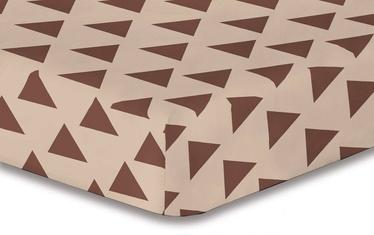 Palags DecoKing Hypnosis, brūna/smilškrāsas, 100x200 cm, ar gumiju