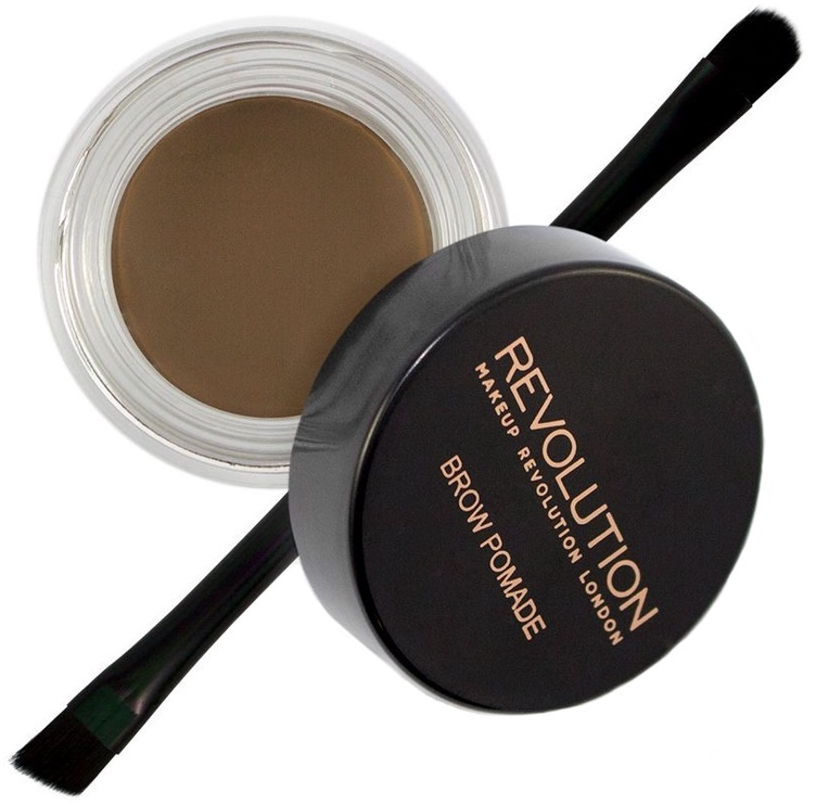 Makeup Revolution London Brow Pomade With Double Ended Brush 2.5g Medium Brown