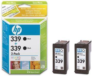 Rašalinio spausdintuvo kasetė HP 339 Black 2-Pack