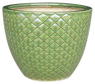 TDS Ceramic Flower Pot 23x29cm Green