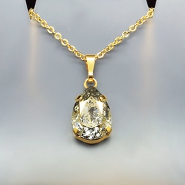 Diamond Sky Pendant Gold Patina Venus II With Swarovski Crystals
