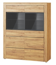 Szynaka Meble Kama 15 Display Unit Camargue Oak/Black Matt