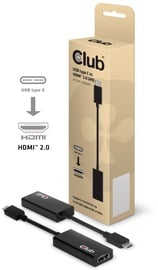 Club 3D USB 3.1 Type C To HDMI 2.0 UHD Active Adapter Black