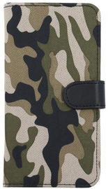 Forever Army Book Case For LG K8 2017 Khaki