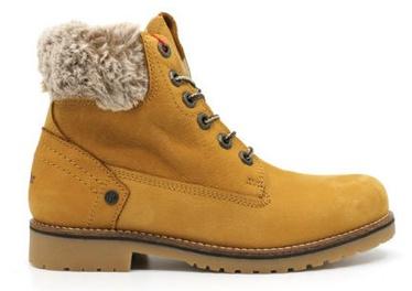 Wrangler Creek Alaska Fur Leather Winter Boots Light Brown 39