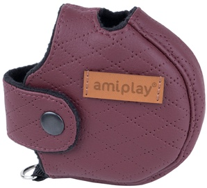 Amiplay Cambridge Infini Retractable Leash Cover L Burgundy