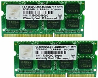 G.SKILL 8GB 1600MHz CL9 DDR3 SO-DIMM KIT OF 2 F3-12800CL9D-8GBSQ