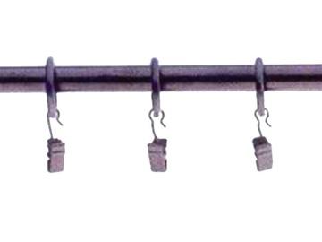 Aizkaru stangas riņķi ar knaģiem D16, melni, 10gab.