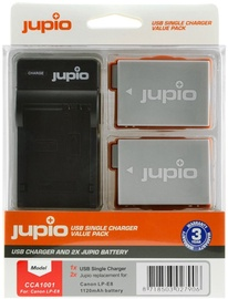 Jupio Kit 2x LP-E8 1120mAh + USB Single Charger