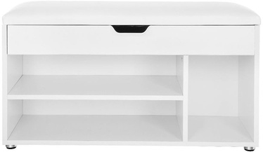 Songmics Shoe Cabinet White 80x30x44cm