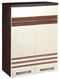 DaVita Rio 16.60 Kitchen Upper Cabinet Wenge Oak/Pearl