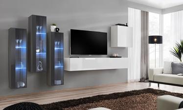 Dzīvojamās istabas mēbeļu komplekts ASM Switch XIII White/Graphite
