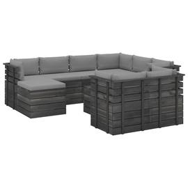 Комплект уличной мебели VLX 10 Piece Pallet Lounge Set With Cushions, серый, 9 места