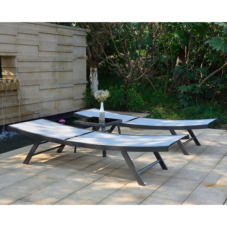 Home4you Ario Sunbathing Furniture Set Grey